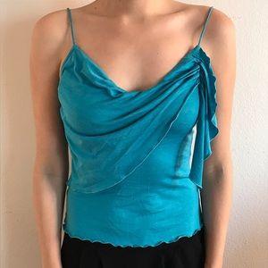 Diane von Furstenberg Blue Tank Top